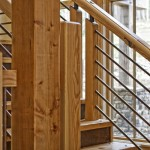 Railing Stain High detail oak stain