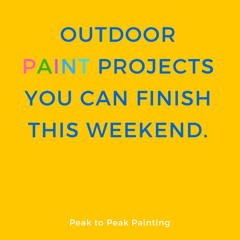 Outdoor projects you can finish this weekend