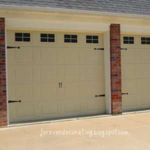 faux windows garage door after