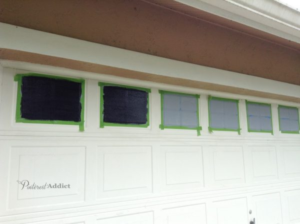 faux windows garage door before